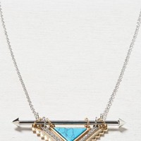 AEO Women's Turquoise Slide Necklace (Silver)
