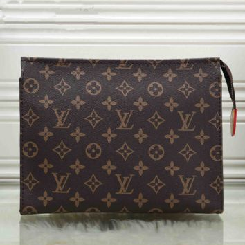 Louis Vuitton LV Women Makeup Bags Men's Business Bag Classic Leisure Handbag Clutch Bag