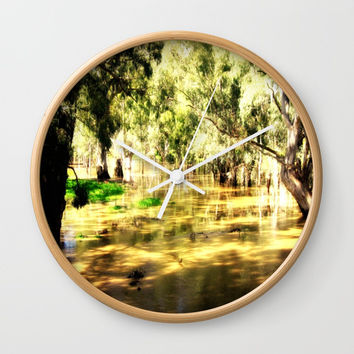 Flooded Plains Wall Clock by Chris' Landscape Images & Designs