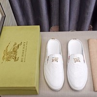Burberry Trending Man Flats White Casual Running Sports Shoes Sneakers