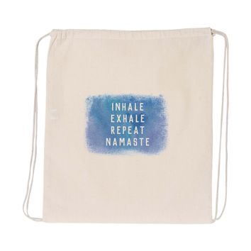Inhale Exhale Repeat Namaste Drawstring Tote