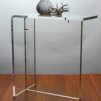 Vintage Lucite End Table Waterfall Style