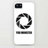 Portal - You Monster iPhone & iPod Case by Yiannis Telemachou