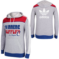 adidas Los Angeles Clippers  Originals Lightweight Pullover Hoodie - Gray/Royal Blue