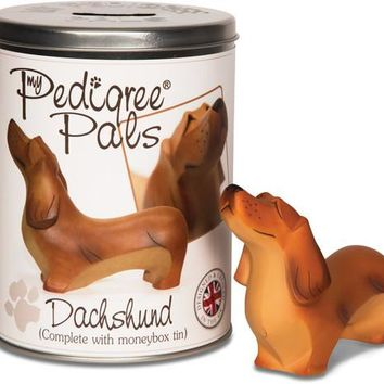 Dachshund Figurine Coin Bank