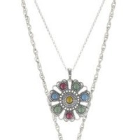 Lucky Brand Indian Double-Drop Pendant Necklace, 20""