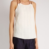 Draped-neck striped top | Esteban Cortázar | MATCHESFASHION.COM US