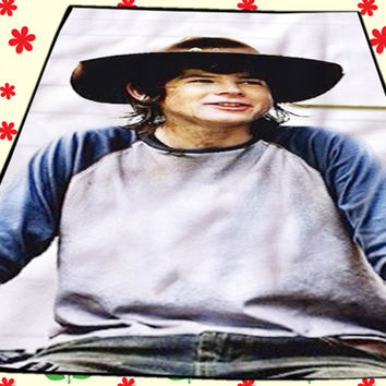 Carl Grimes The Walking Dead Kids Blanket Bedroom Vintage Home Living Quilts