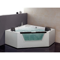 "Ariel Bath 59"" x 59"" Whirlpool Tub"