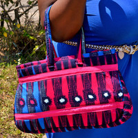 Hot pink And Blue Tote Bag