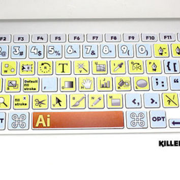 Illustrator CS5 Macbook Keyboard Skin by killerduckdecals on Etsy