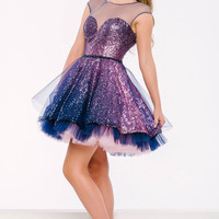 Jovani 39523 Sparkly Fit and Flare Homecoming Dress