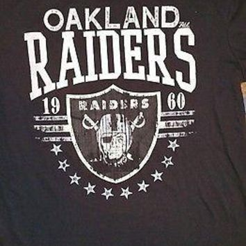 New OAKLAND RAIDERS  DISTRESSED  BIG TIME  T-Shirt VIINTAGE NFL TEAM APPAREL