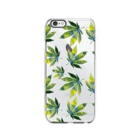 Cannabis Weed Leaves Pattern Transparent Silicone Plastic Phone Case for iphone 6PLUS _ LOKIshop (iphone 6 plus)
