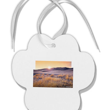 Colorado Sand Dunes Cutout Paw Print Shaped Ornament