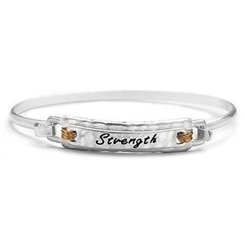 Mariell Sister Love Etched Message Inspirational Bracelet  PushOpen Bangle  Alpaca Silver  Ideal Gift