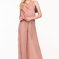 Pleated Chiffon Jumpsuit - LoveCulture