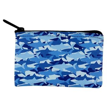 ONETOW Great White Shark Camo Coin Purse