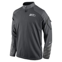 Nike Platinum Fly Rush 2.0 Half-Zip (NFL Seahawks) Men's Training Top