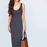 Elisa Gray Backless Maxi Dress