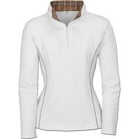 Riding Sport™ Plaid Trim Zip Mock Neck | Dover Saddlery