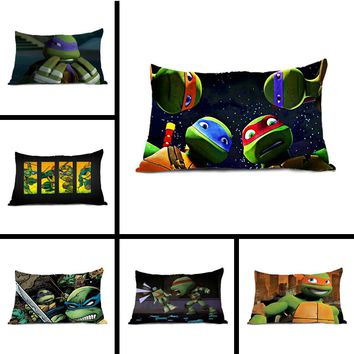 Popular TMNT Teenage Mutant Ninja Turtles Pillow Case Zippered Rectangle Throw Pillow Protector Pillowcase Cover