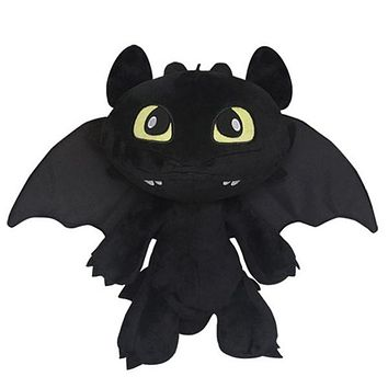 30CM Cartoon Dinosaurs Toys How To Train Your Dragon 2 Plush Toy Toothless Dragon Stuffed Animal Dolls Movie Toys For Kid Gift