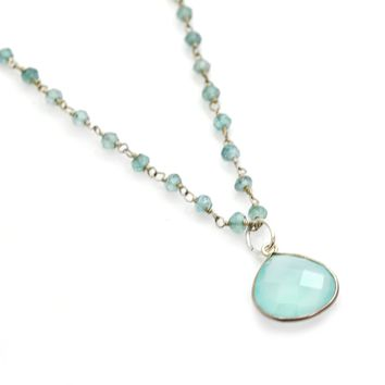 Sterling Silver Apatite Rosary Chain