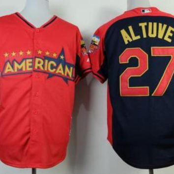 Houston Astros #27 Jose Altuve Red 2014 All-Star American League Stitched Baseball Jersey
