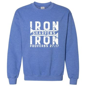 Iron Sharpens Iron Christian Crewneck Unisex Sweatshirt