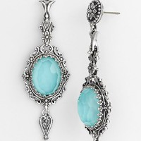 Women's Konstantino 'Aegean' Drop Earrings - Silver/ Turquoise
