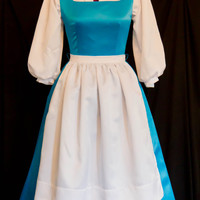 DELUXE Adult Blue BELLE Blue Provincial Costume CUSTOM Size
