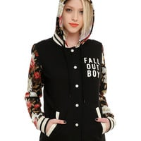 Fall Out Boy Floral Girls Varsity Hoodie