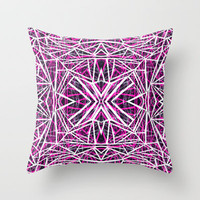 Fragments Throw Pillow by Claudia Owen