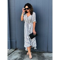 Keep In Touch Wrap Dress