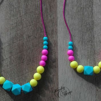 Mommy and Me Vanellope Teething / Nursing Necklace