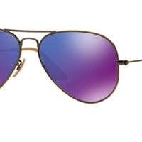 RAY BAN RB 3025 BRONZE WITH PURPLE MIRROR LENS