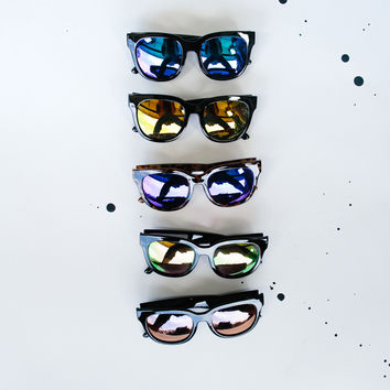 Thick Frame Colored Lens Sunnies