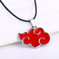 Naruto Akatsuki Red Cloud Necklace and Pendant