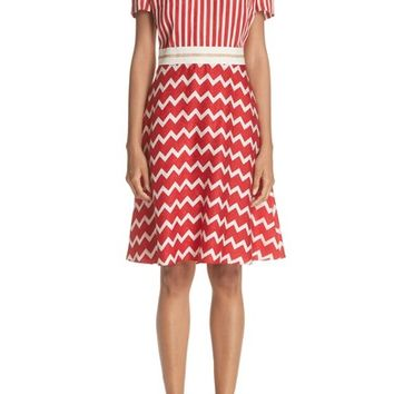 Stella McCartney Zigzag Stripe Silk Dress | Nordstrom