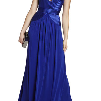 Blue BCBG Tasha Strapless Long Dress
