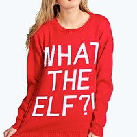 Judy What The Elf?! Christmas Jumper