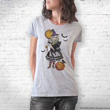 Witch T-shirt-Halloween T-shirt-Alice witch T-shirt-funny Halloween T-shirt-witch tank top-witch T-shirt-witches tee-NATURA PICTA-NPTS101