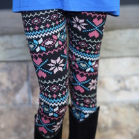 Snow Queen Leggings - Modern Vintage Boutique