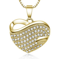 Charm Rhinestone Heart Necklace