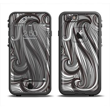 The Black & Gray Monochrome Pattern Apple iPhone 6 LifeProof Fre Case Skin Set