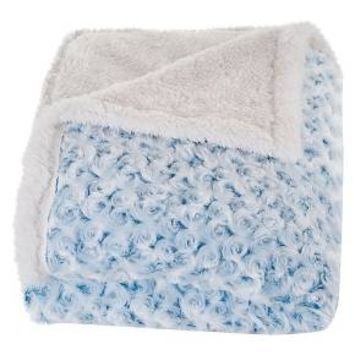 Plush Flower Fleece Sherpa Backed Throw - Yorkshire Home