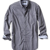 Banana Republic Mens Slim Fit Custom 078 Wash Gingham Shirt