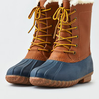 AEO Lace-Up Duck Boot , Tan