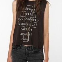 UrbanOutfitters.com > Truly Madly Deeply French Cross Text Muscle Tank Top